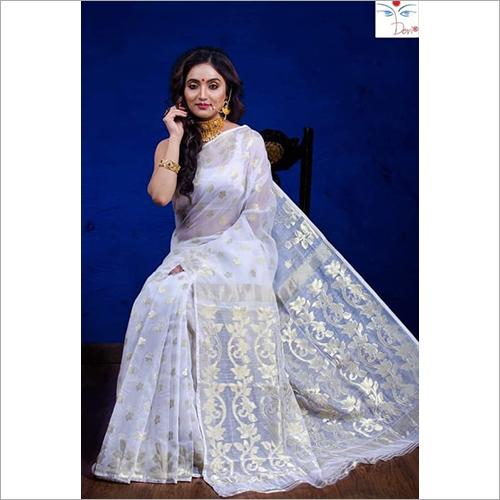 Fancy Rasom Moslin Jamdani Saree