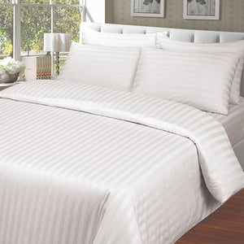 Satin Strip Bed Sheet