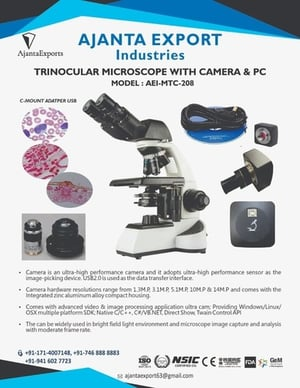 Microscope Trinocular with camera and PC