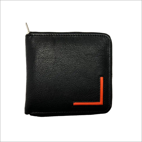 Leather Zippered Credit Card Holder