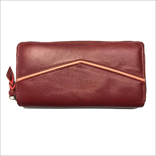 Ladies Brown Leather Wallet