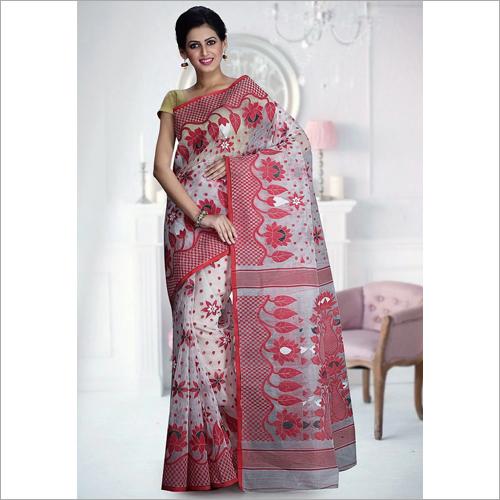 Ladies Dhakai Printed Jamdani Saree