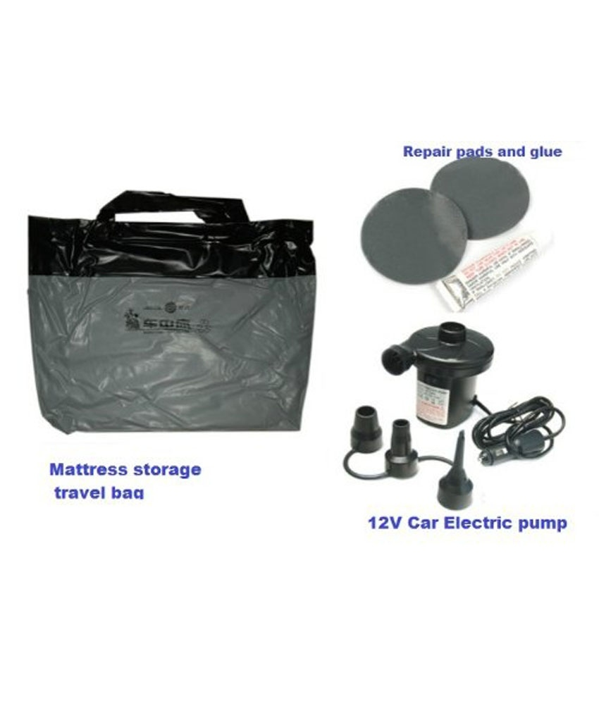 XElectron Car Inflatable Bed With Electric Pump Pillow And Puncture Kit