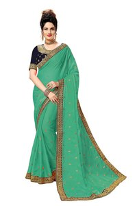 Rangoli Georgette Embroidered Work Saree