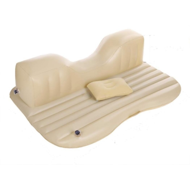 XElectron Car Inflatable Beige Bed With Electric Pump Pillow And Puncture Kit