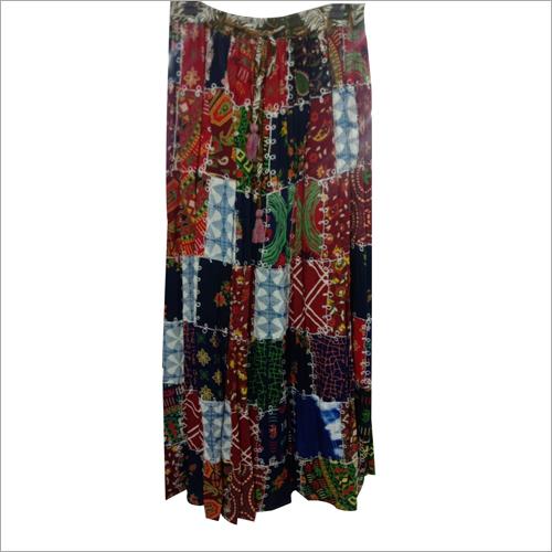 Viscose Patch Skirt