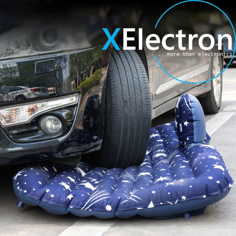 XElectron Car Printed Inflatable Bed With Electric Pump Pillow And Puncture Kit