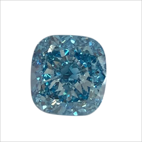 Princess Shape Blue Lab Grown Diamond