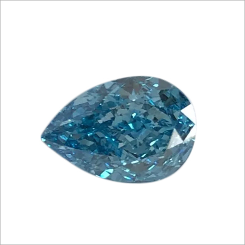 Pear Shape Blue Lab Grown Diamond