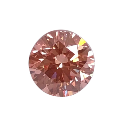 Round Shape Pink Lab Grown Diamond