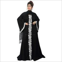 Ladies Designer Abayas on Nida Fabric