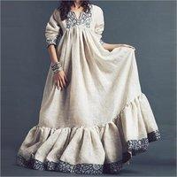 Ladies Linen Exclusive Kaftan