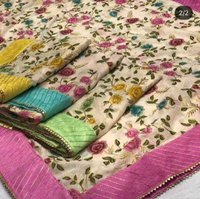Placeprint+ Embroidery Dupatta [ Fabric-chanderi ]