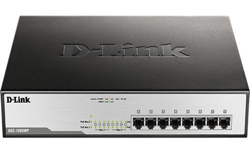 D-LINK 8 Port Gigabyte (POE) Switch 10/100/1000