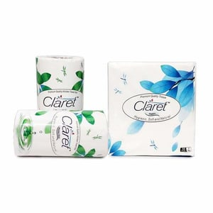 Claret 3 In 1 Value Pack Of 40x40cm Paper Napkins With Kitchen Towel 2 Rolls - 4 Ply