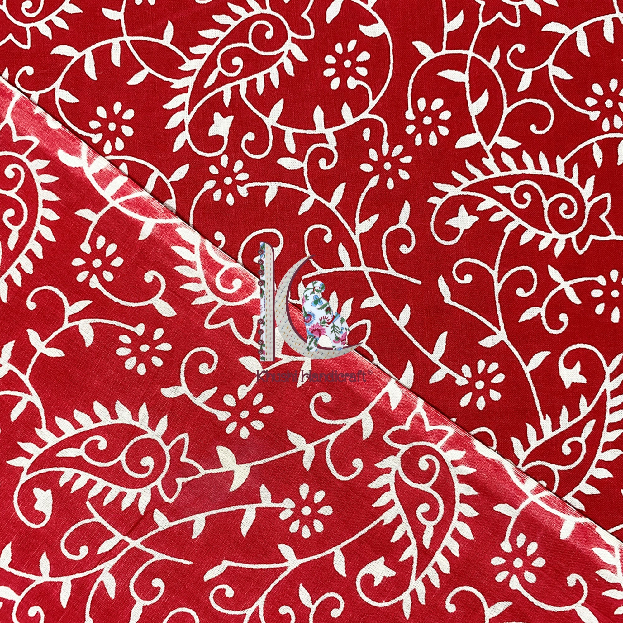 Jaipuri Hand Block Printed Fabric