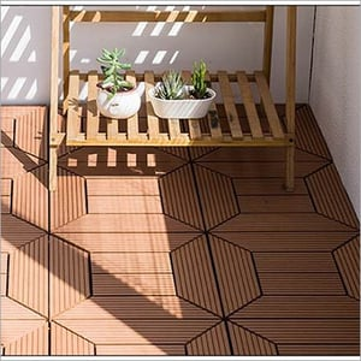 Anti Slip Environmental House Decking Tile