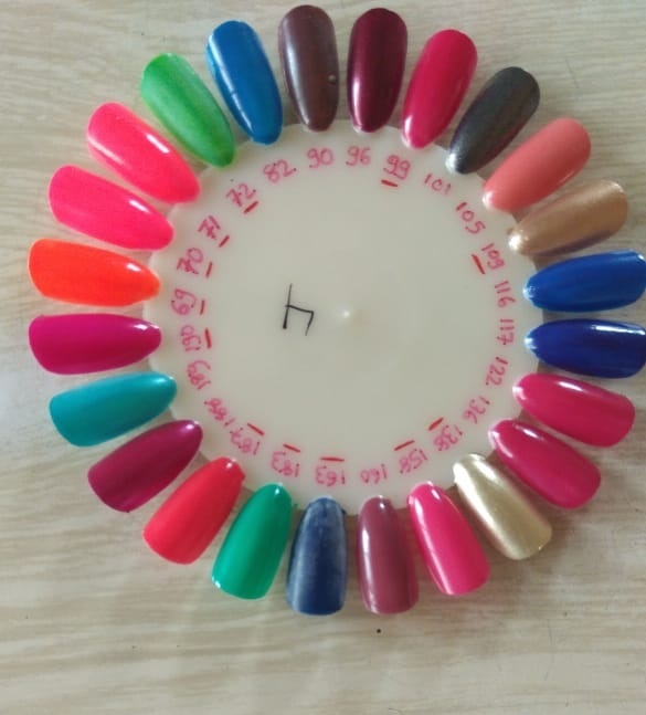 Frosted Matte  Square Bottle Nail Paint - 8ml