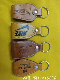 Brown Leather Promotional Key Chains