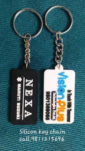Silicone Rubber Promotional Keychains