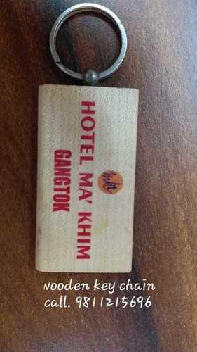 Natural Wood Standard Wooden Keychain