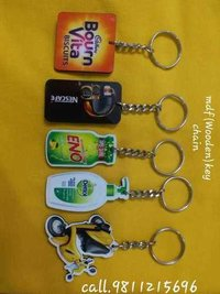 MDF Wooden Promotional Key Rings