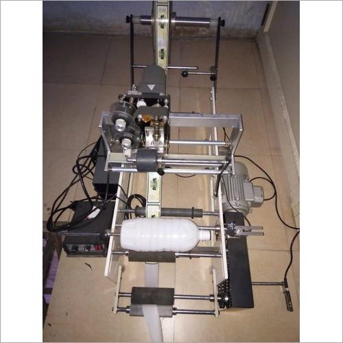 Semi Automatic Juice Bottle Sticker Labeling Machine With Printer