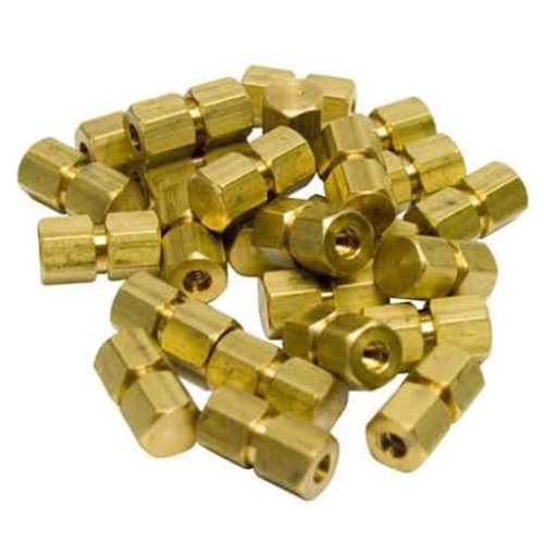 Brass Hexnut  Open and Close