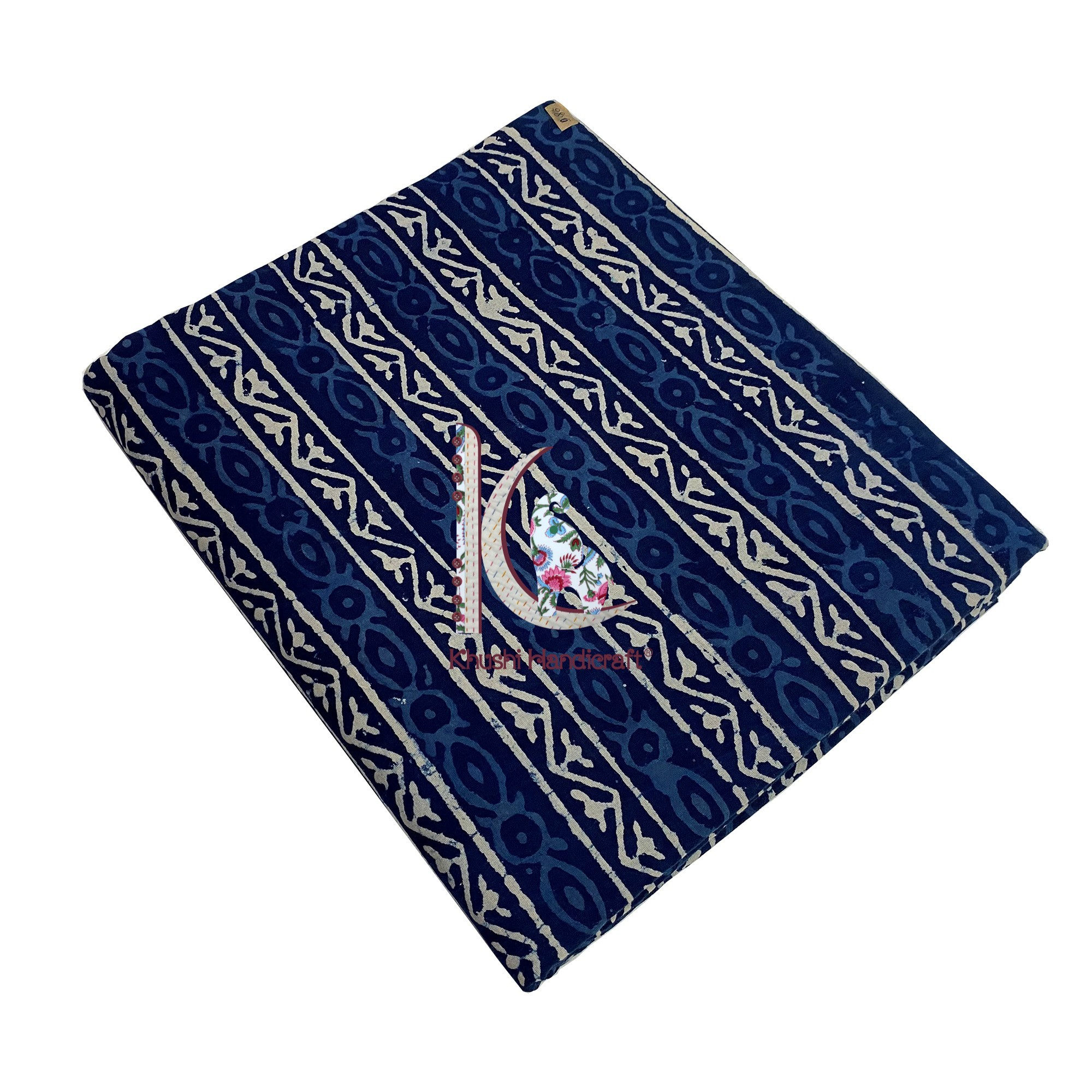 Traditional Indigo Dress Wear Fabric For Women