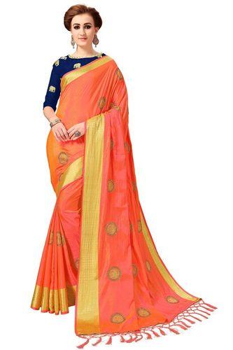 Animal design Silk Embroidered Work saree