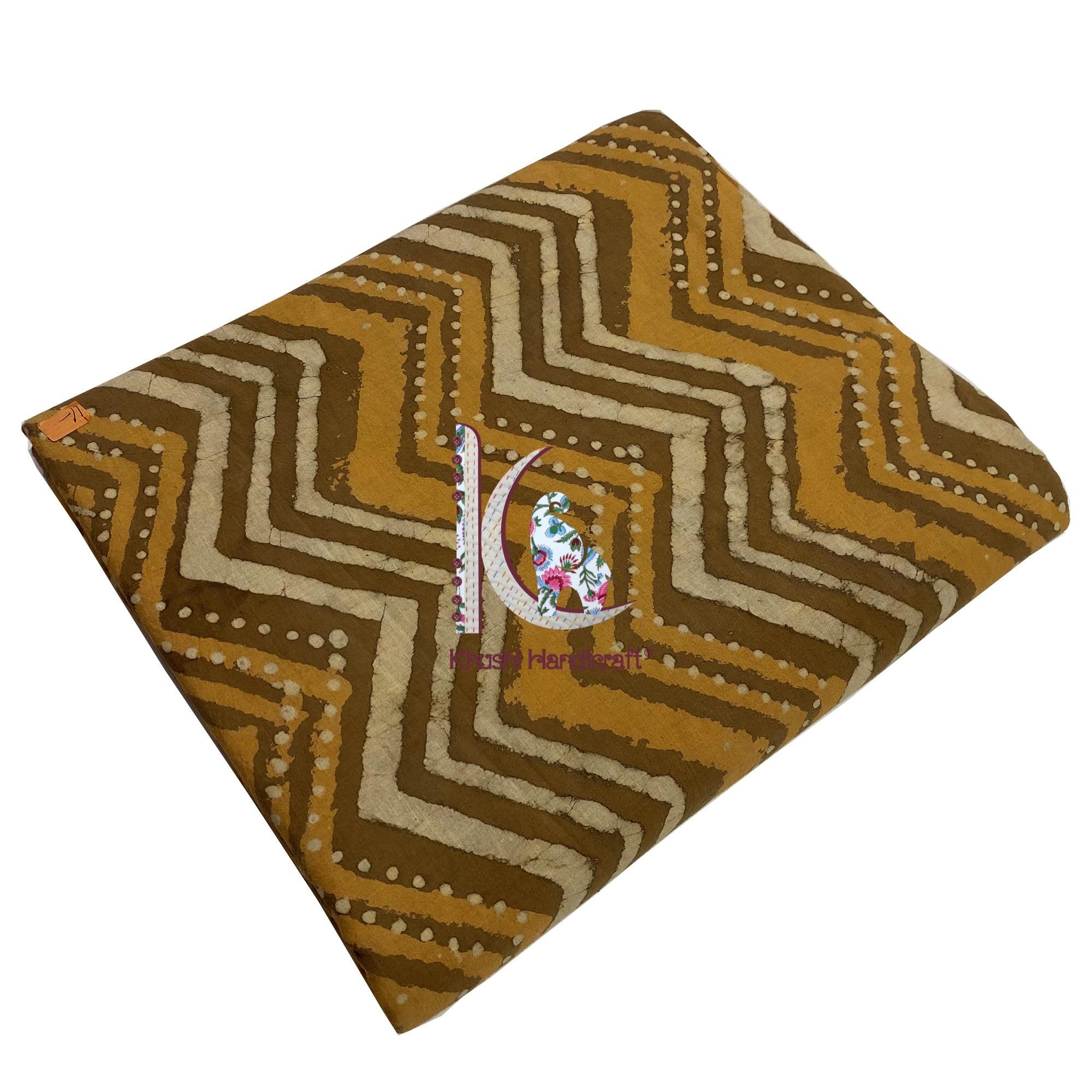 Soft Batik Fabric With Zig-zag Pattern