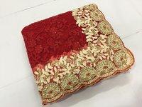 Paisley Design Net Embroidered Work Saree