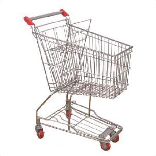 Supermarket Trolley And Basket