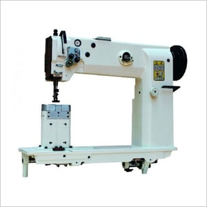 Double Compound Feed Post Bed Upholstery Sewing Machine
