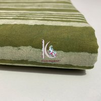 Stripped Knitted Fabric For Hand-block Printed Cushion Covers