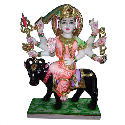 Marble Goddess Ma Nav Durga Statue