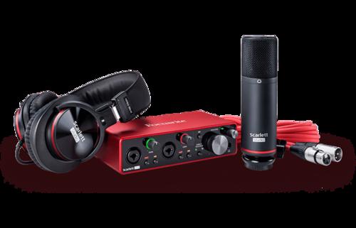 Focusrite Scarlett 2I2 Studio 3Rd Gen Recording Bundle Dimension(L*W*H): 5.65 X 3.77 X 1.71 Inch (In)