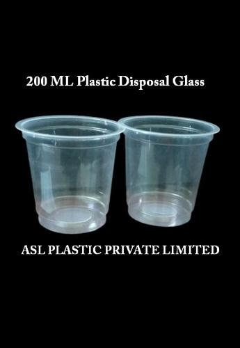 Aqua Plastic Glass