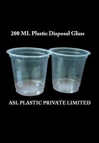 Aqua Plastic Glass