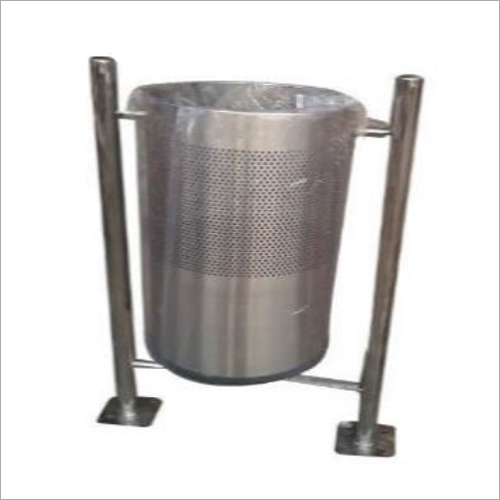 Stainless Steel Pole Mounted Dustbin