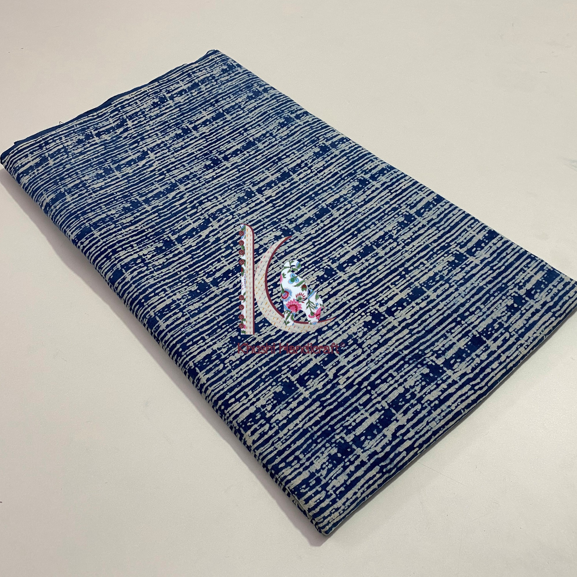 Eco-friendly Indigo Print Fabric Used For Stoles And Scarves