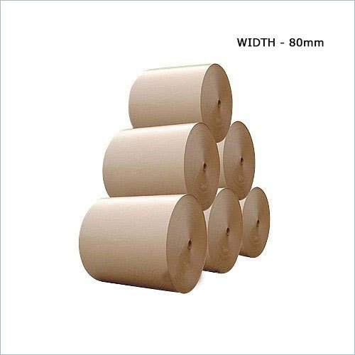 80mm Brown Poly Coated Kraft Paper