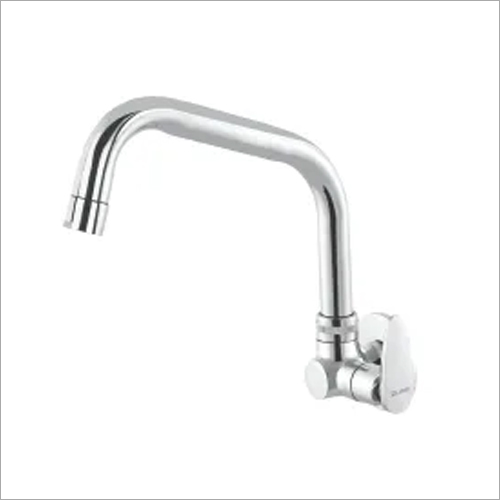 Side Handle Sink Cock Swinging Spout With Flange