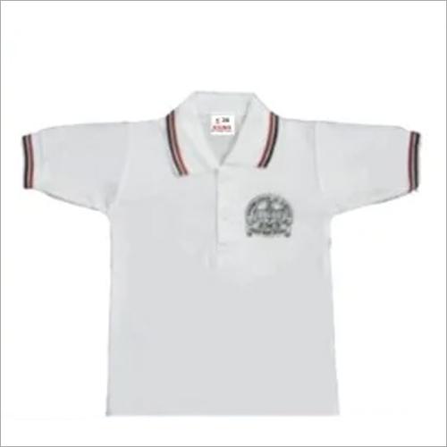 School White Collar T Shirt