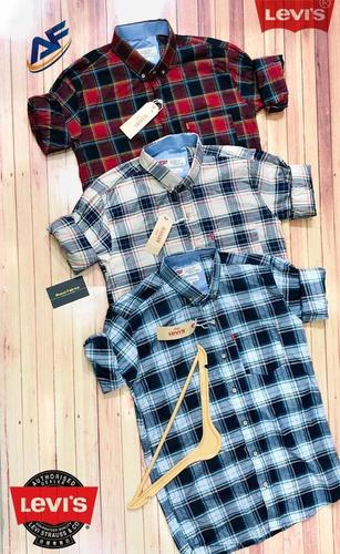 Multiple Colour Mens Checked Shirts