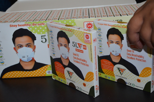 5 Layer N95 Respirator Face Mask - Pack Of 10