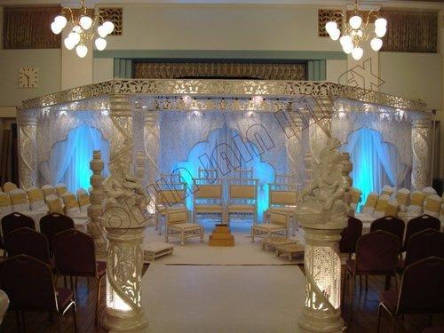 Grand Crystal Wedding Mandap