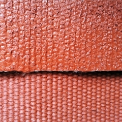 1.5mm thickness silicone coated texturized fiberglass fabric, both sides