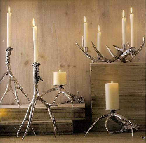 Nickel Plated Decorative Candle Holder