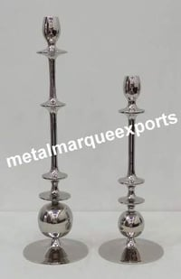 Aluminum Nickel Plated Candle Stick Holder